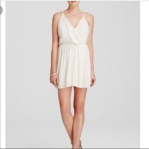 Alice + Olivia white silk mini dress size 2